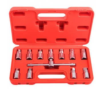 Набір для відкручування масляних пробок. 12 пр. Alloid. МП-5039