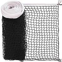 Сітка для великого тенісу з металевим тросом 12,8 x 1,08 м Тренувальна SP-PlanetaЧорний-білий(SO-2326)