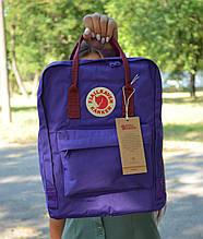 Fjallraven Kanken Classic фиолетовый Рюкзак с бордовыми ручками Городской на 16 литров