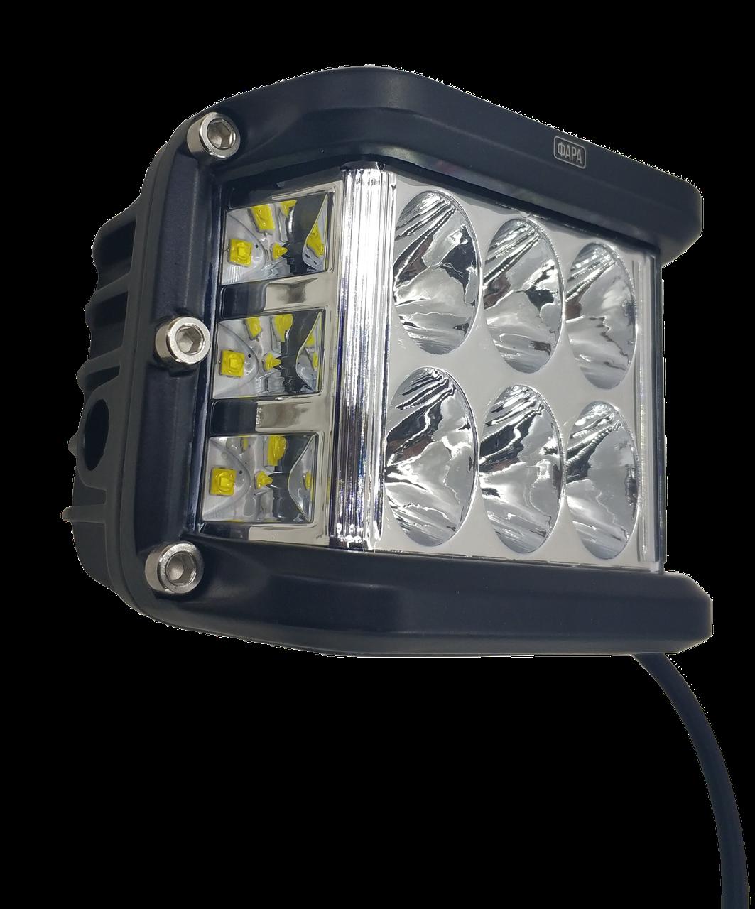 Фара LED прямоугольная 60W (12 диодов) (луч 180 `С)