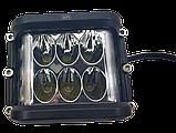 Фара LED прямоугольная 60W (12 диодов) (луч 180 `С), фото 3
