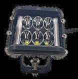 Фара LED прямоугольная 60W (12 диодов) (луч 180 `С), фото 4