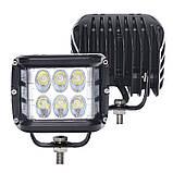 Фара LED прямоугольная 60W (12 диодов) (луч 180 `С), фото 8