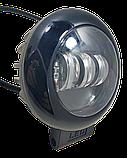 Фара светодиодная LED противотуманная круглая (3 диода) black, фото 6