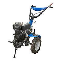 Мотоблок дизельный с бесплатной доставкой ДТЗ 560ДН + фреза ( 6 л.с., ручной стартер) (колеса 4.00-10), фото 1