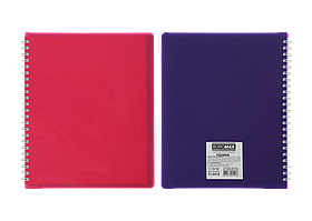 /Тетрадь для записей FUCHSIA L2U В5 96 л клетка с разделителем пластиковая обложка фуксия/фи
