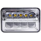 Фара LED прямоугольная 45W (15 х 3Вт)(ближн. + дальний+DRL )(4000Lm) (198мм х 140мм х 69мм)(Вилка Н4) (IP67) (, фото 3