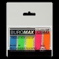 ^$Закладки пластиковые NEON JOBMAX с клейким слоем 45x12 мм 5 цв по 20 л