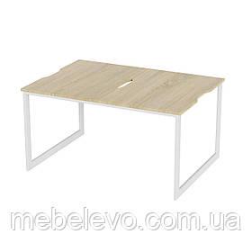 Стол-трансформер Fiji Combo Art In Head 460x650x335 белый металл + дуб Сонома (101011108) Стіл-трансформер