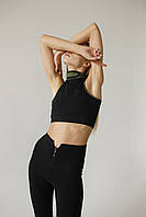 Спортивные женские лосины для тренировок Zipper Leggings размер S