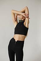Спортивные женские лосины для тренировок Zipper Leggings размер M