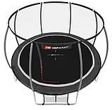 Батут для прыжков с внутренней сеткой 366 см черный с серым Hop-Sport Premium 12ft (366cm) black/grey, фото 2