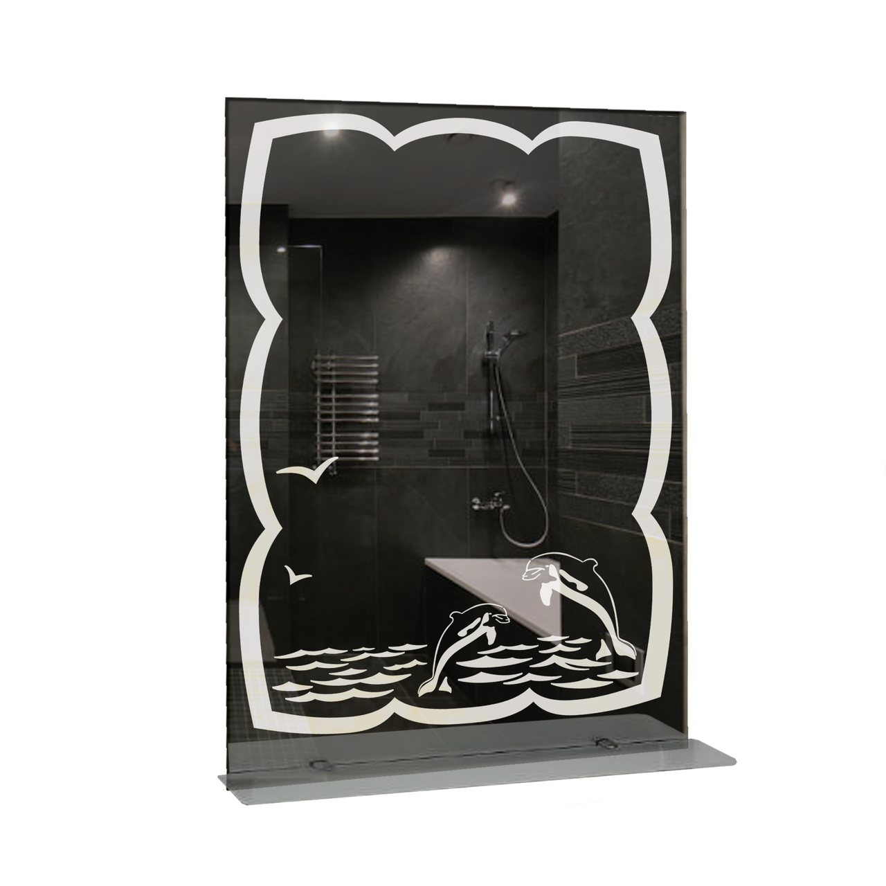 Зеркало для ванной комнаты 600х800 Ф396