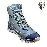 Трекінгові черевики B-5 зелені демі/зима, фото 2