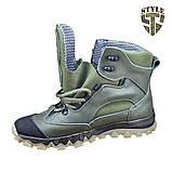 Трекінгові черевики B-5 зелені демі/зима, фото 5