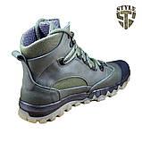 Трекінгові черевики B-5 зелені демі/зима, фото 3