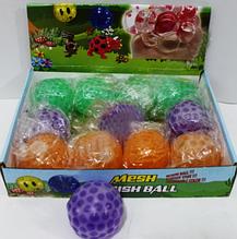 Силиконовая игрушка Антистресс с шариками орбиз. Светящиеся