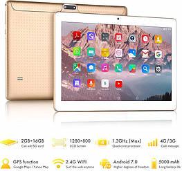 Планшет 10 дюймів Yotopt K107 Android 7 2/16Gb 2Sim 4G Gold