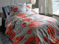 Постельное белье Маки, белорусская бязь 100%хлопок - Евро комплект
