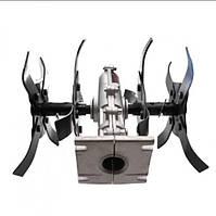 Насадка культиватор на підшипниках для мотокоси посадка 26 мм, вал 9 шліців
