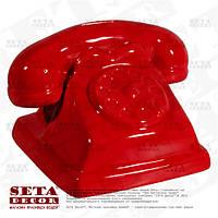 Копилка Красный ретро телефон керамическая