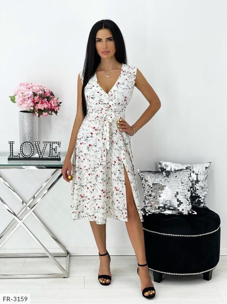 Сукня софт з розрізом збоку