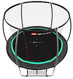 Батут для стрибків з внутрішньої сіткою 305 см чорний з зеленим Hop-Sport Premium 10ft (305cm) black/green, фото 2