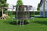 Батут для стрибків з внутрішньої сіткою 305 см чорний з зеленим Hop-Sport Premium 10ft (305cm) black/green, фото 4