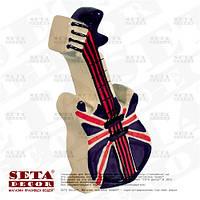 Копилка Гитара с британским флагом керамическая