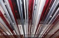 Шторы нити радуга со стеклярусом белый+бордовый+серебро, фото 1