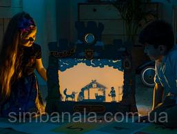 Домашній дитячий театр тіней, в комплекті 7 казок, розмір 620х620мм