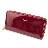 Гаманець жіночий лаковий на блискавці червоний LORENTI 77006-SH Red, фото 1