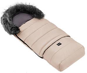 Зимний конверт Bair Arctic с удлинением  в коляску, в санки  бежевый