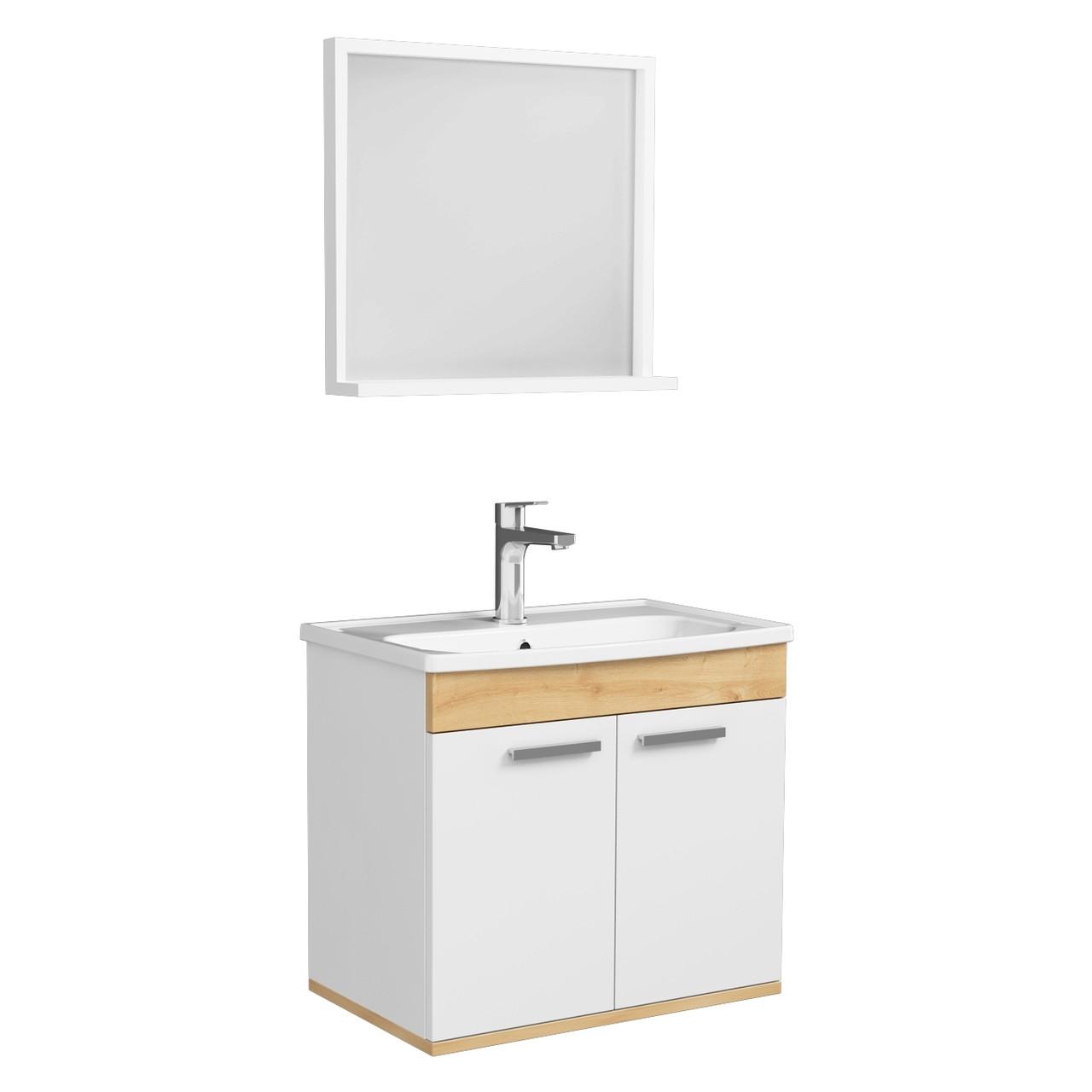 Комплект меблів RJ First 60 см RJ20600WO з тумбою та умивальником + дзеркало