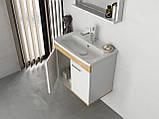 Комплект меблів RJ First 60 см RJ20600WO з тумбою та умивальником + дзеркало, фото 6