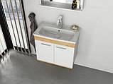 Комплект меблів RJ First 60 см RJ20600WO з тумбою та умивальником + дзеркало, фото 9