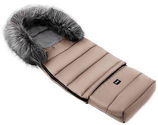 Зимний конверт Bair Arctic с удлинением  в коляску, в санки  капучино