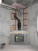 Монтаж камина с разводкой тепла по комнатам