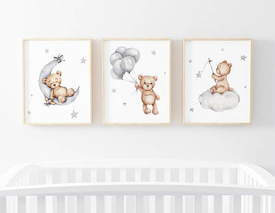 Набір постерів Ведмідь Тедді формат А3