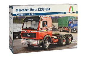 Збірна модель автомобіля тягача MERCEDES BENZ 2238 6x4 в масштабі 1/24. ITALERI 3943