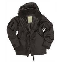 Куртка мембрана с подстежкой чёрная Mil-Tec