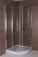 Полукруглая душевая кабина Aqua-World Pivot PV100100R ДкПр.100-Tr прозрачное стекло, фото 1