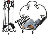 Каминный набор: совок, кочерга, дровница купить в Херсоне