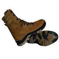 Тактические ботинки берцы демисезонные койот на быстрой шнуровке