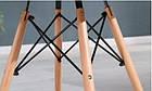 Квадратний стіл Бонд 2 білий на букових ніжках від SDM Group, 60*60 см, фото 3