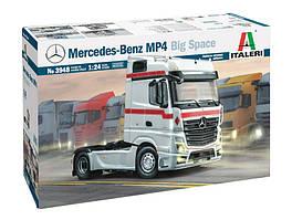 Збірна модель автомобіля тягача Mercedes Benz MP4 Big Space в масштабі 1/24. ITALERI 3948