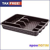 Лоток для столових приборів Violet House Ротанг Coffee (0755 Ротанг COFFEE 29*37 см)