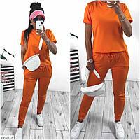 Яркий прогулочный костюм женский спортивный летний с футболкой р-ры 42-48 арт. 255