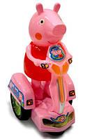 Свинка на бат. Peppa Pig на мотоцикле