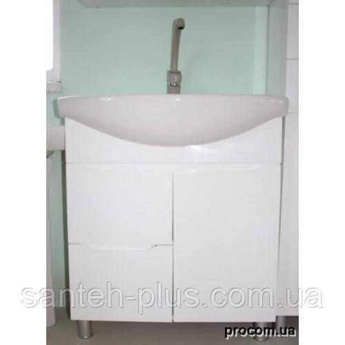 Тумба для ванной комнаты Висла Т4 с умывальником Изео-75